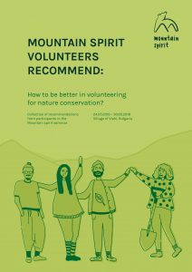 Volunteers recommend how to be better in volunteering projects for nature conservation